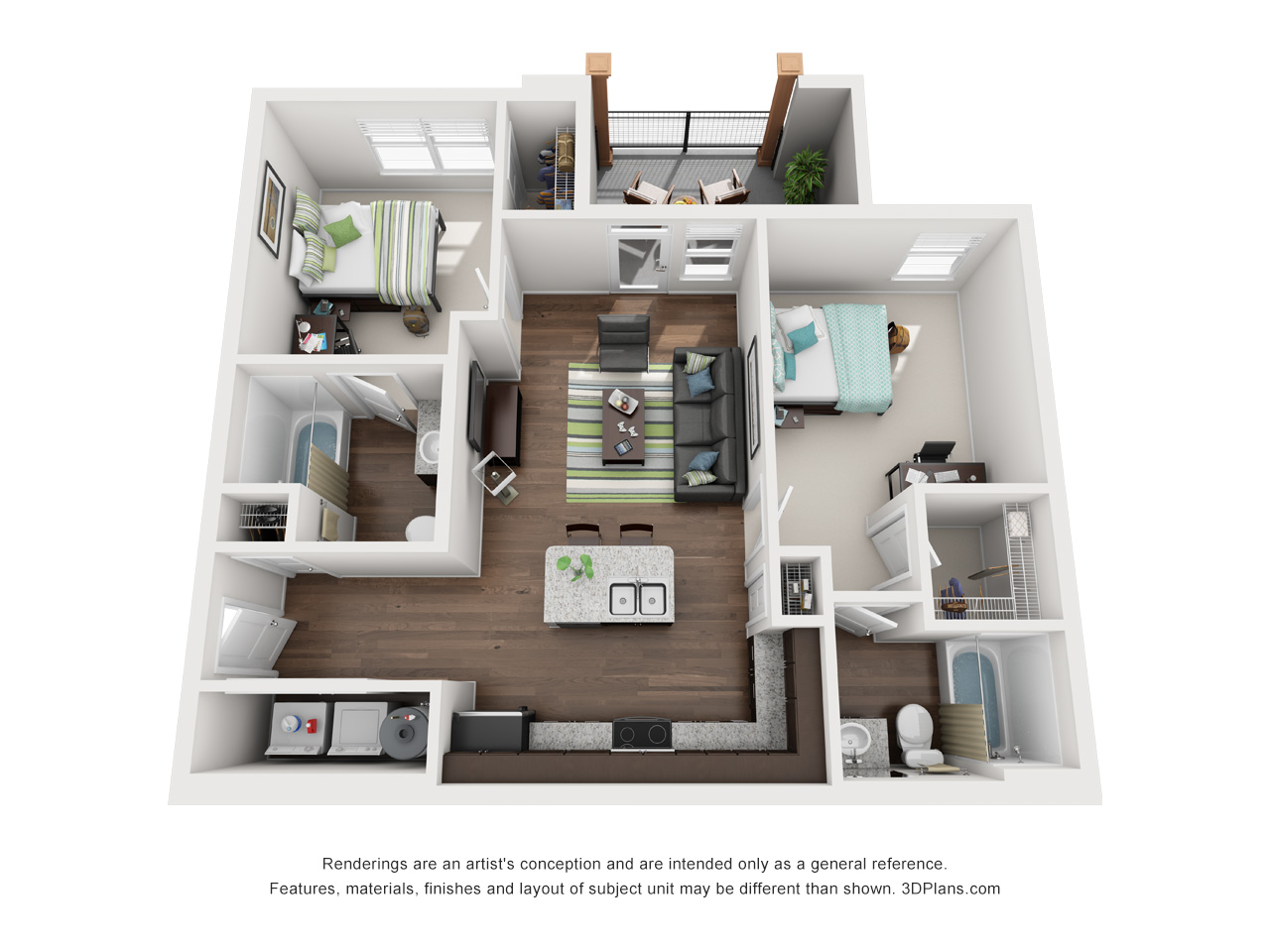 stadium enclave floor plans - 4 Bedroom Apartments