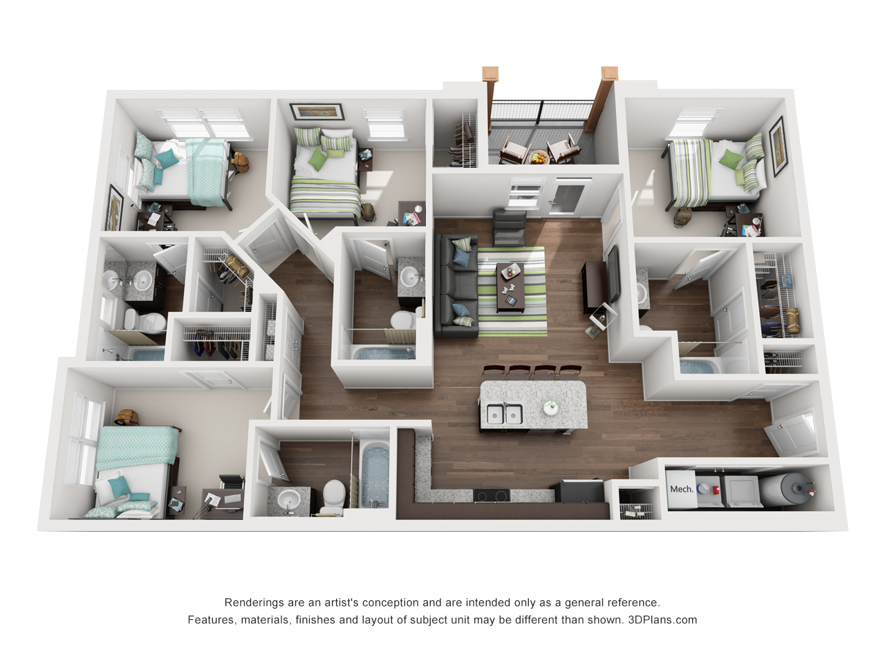 Stadium Enclave® Floor Plans